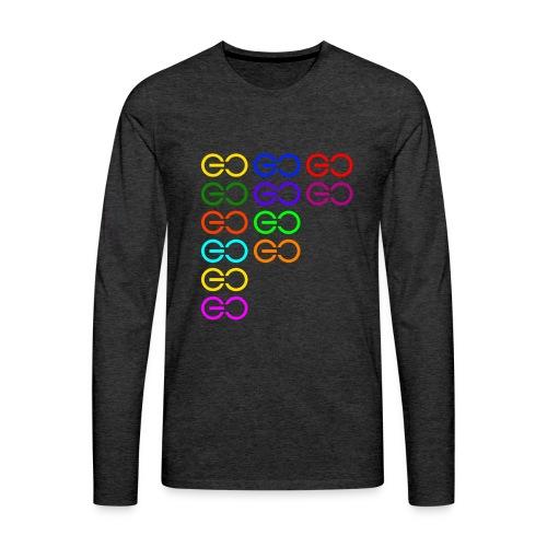 GOGOGO multi color - Men's Premium Long Sleeve T-Shirt