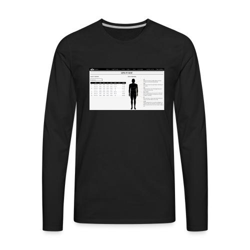alpha fit guide - Men's Premium Long Sleeve T-Shirt