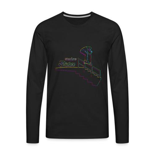 Stairs Sliders Techno - Men's Premium Long Sleeve T-Shirt