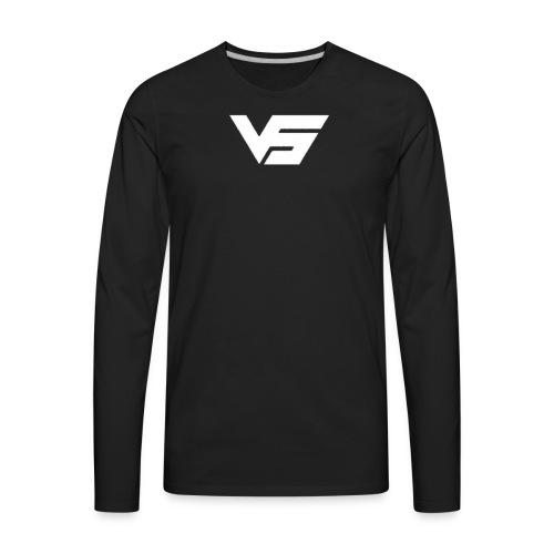 White First Vast Logo - Men's Premium Long Sleeve T-Shirt