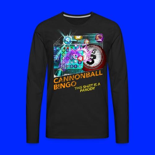 Vintage Cannonball Bingo Box Art Tee - Men's Premium Long Sleeve T-Shirt