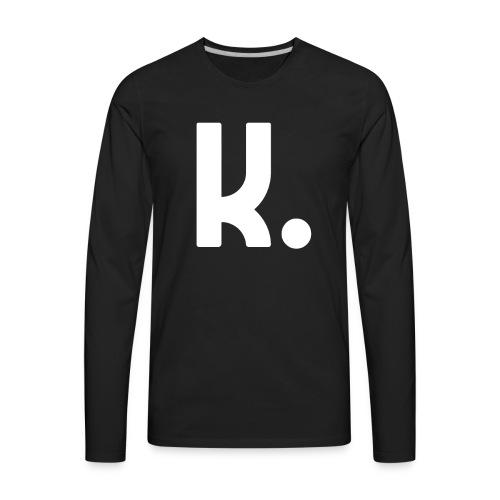 K Dot Period Simple Letter K Design English - Men's Premium Long Sleeve T-Shirt