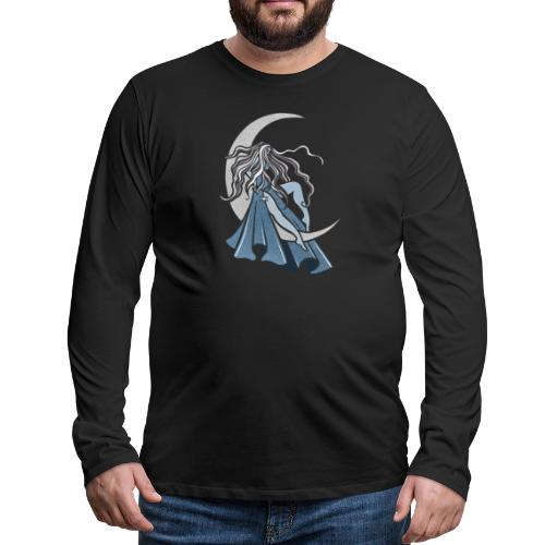 Moon Goddess - Men's Premium Long Sleeve T-Shirt