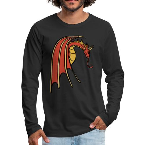 Red Dragon - Men's Premium Long Sleeve T-Shirt