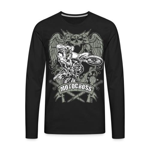 Dirt Bike Extreme Tattoo - Men's Premium Long Sleeve T-Shirt