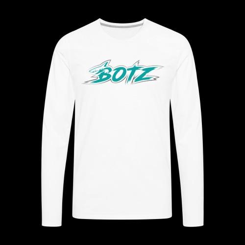 BOTZ Teal Logo - Men's Premium Long Sleeve T-Shirt