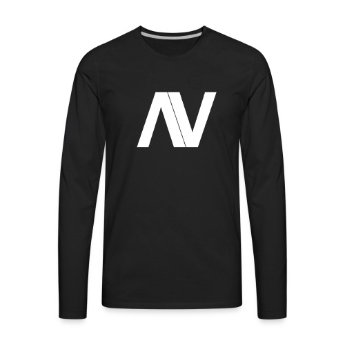 AviaryVision Logo (White) - Men's Premium Long Sleeve T-Shirt