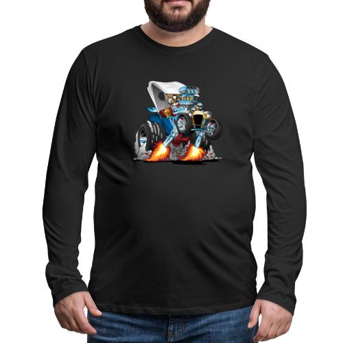 Custom T-bucket Roadster Hotrod Cartoon - Men's Premium Long Sleeve T-Shirt