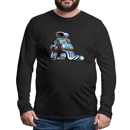 Hot rod race car engine cartoon - Men's Premium Long Sleeve T-Shirt