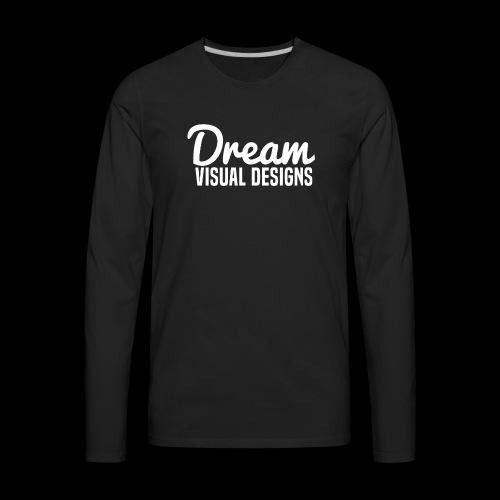 DreamVisualDesigns Logo (white) - Men's Premium Long Sleeve T-Shirt