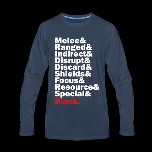 Discard to Reroll - Sides of the Die - Men's Premium Long Sleeve T-Shirt