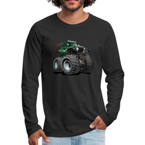 Off road 4x4 green jeeper cartoon - Men's Premium Long Sleeve T-Shirt