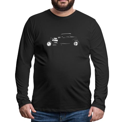 Thirties Custom Hot Rod Silhouette - Men's Premium Long Sleeve T-Shirt