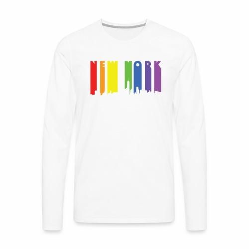 New York design Rainbow - Men's Premium Long Sleeve T-Shirt