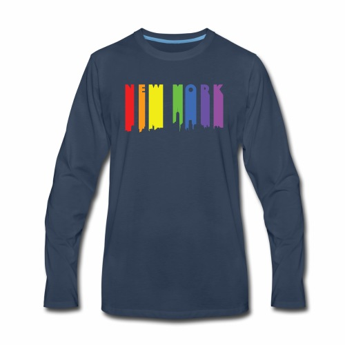 New York design Rainbow - Men's Premium Long Sleeve T-Shirt