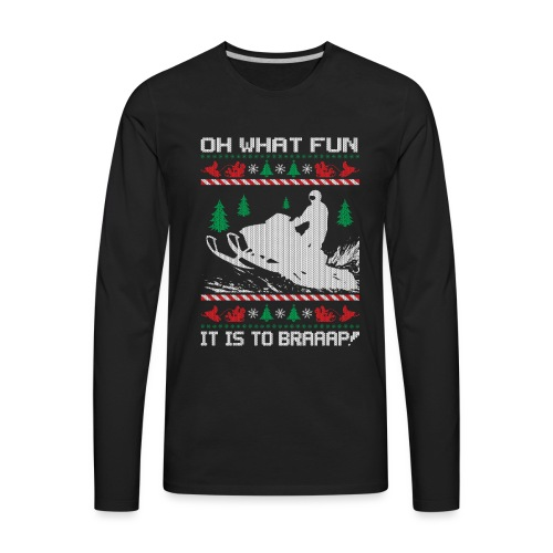 Snowmobile Fun Christmas - Men's Premium Long Sleeve T-Shirt