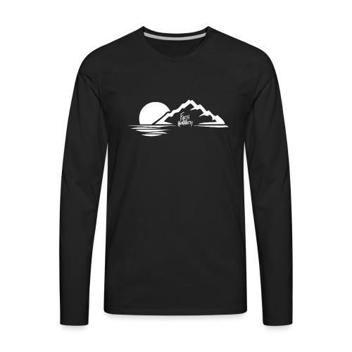 FFH MountainDesignWhite png - Men's Premium Long Sleeve T-Shirt