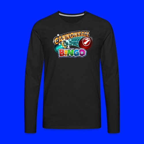 Vintage Cannonball Bingo Logo - Men's Premium Long Sleeve T-Shirt