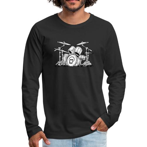 Drum Set Cartoon - Men's Premium Long Sleeve T-Shirt