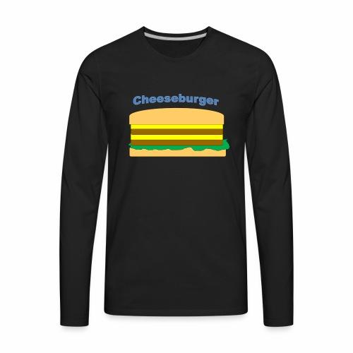 cheeseburger - Men's Premium Long Sleeve T-Shirt