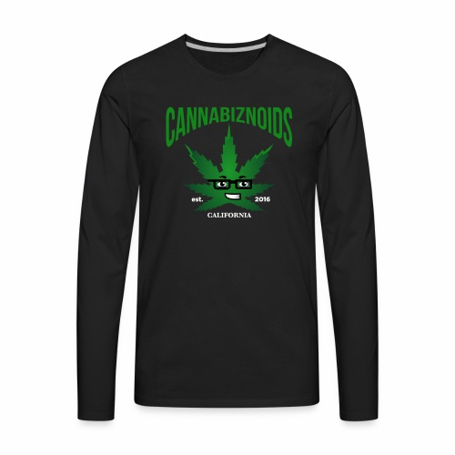 Cannabiznoids Logo with Text - Men's Premium Long Sleeve T-Shirt