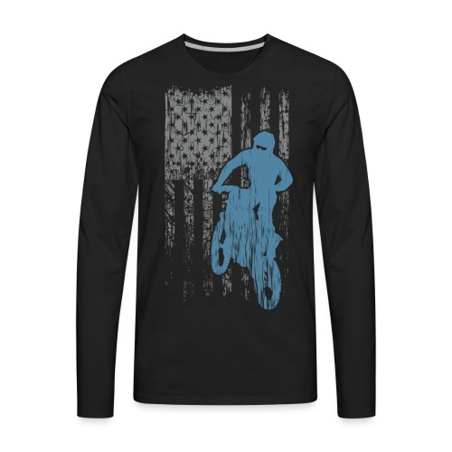 Motocross USA Biker - Men's Premium Long Sleeve T-Shirt