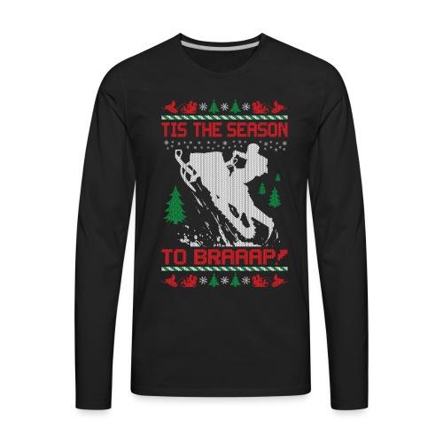 Snowmobile Christmas Ride - Men's Premium Long Sleeve T-Shirt