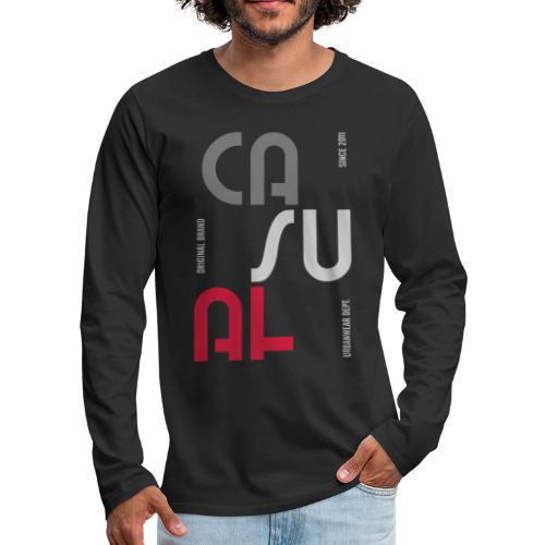 casual wear fashion style - Men's Premium Long Sleeve T-Shirt