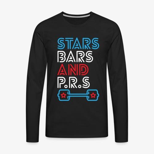 Stars, Bars And PRs - Men's Premium Long Sleeve T-Shirt