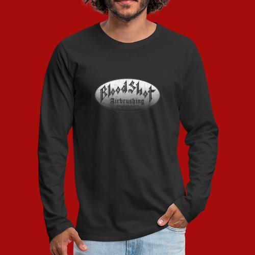 BloodShot Airbrushing Logo - Men's Premium Long Sleeve T-Shirt
