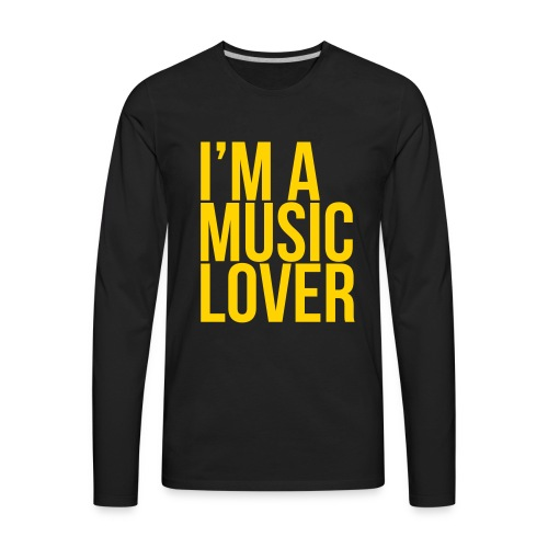 Music Lover big - Men's Premium Long Sleeve T-Shirt