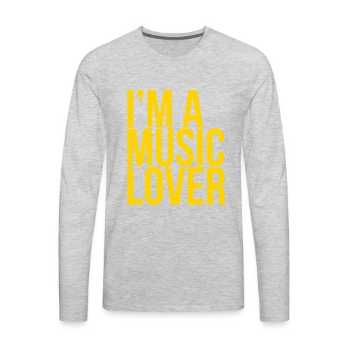 Music Lover big - Men's Premium Long Sleeve T-Shirt