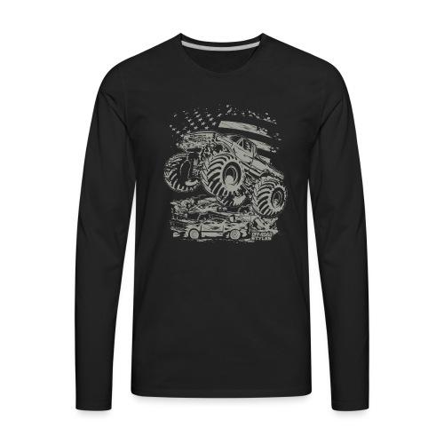 Monster Truck USA - Men's Premium Long Sleeve T-Shirt