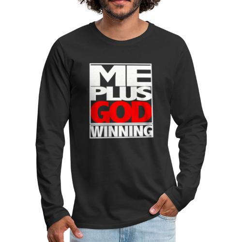 ME GOD WIN WHT - Men's Premium Long Sleeve T-Shirt