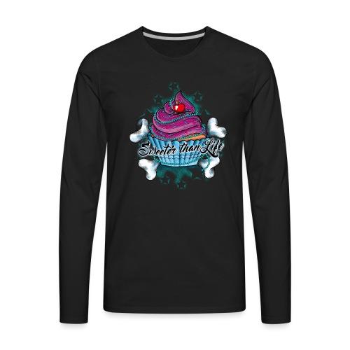 Cupcake - Sweeter than Life - Men's Premium Long Sleeve T-Shirt