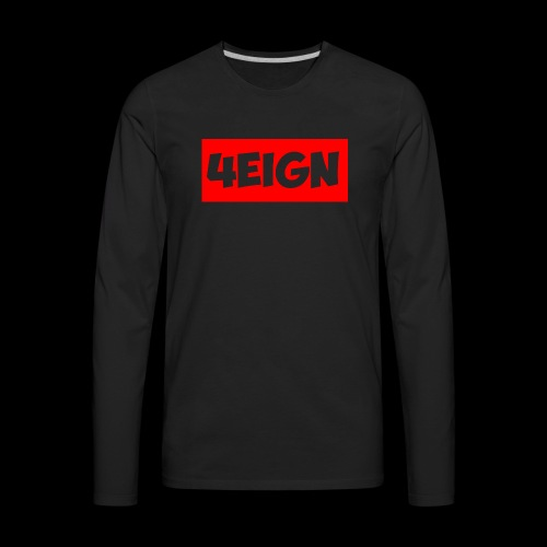 4eign Logo RED - Men's Premium Long Sleeve T-Shirt