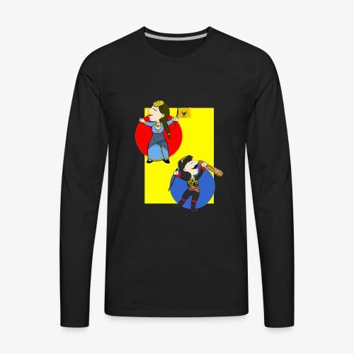 Cartoon - Pontios/lyra & Pontia/flag - Men's Premium Long Sleeve T-Shirt