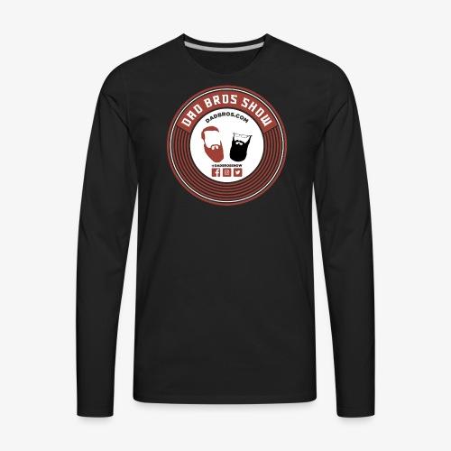 Dad Bros Retro Record - Men's Premium Long Sleeve T-Shirt