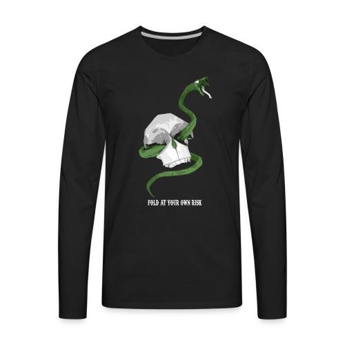 Origami Snake and skull - Men's Premium Long Sleeve T-Shirt