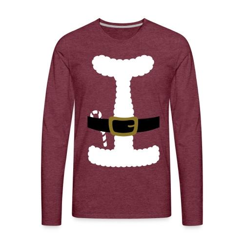 SANTA CLAUS SUIT - Men's Polo Shirt - Men's Premium Long Sleeve T-Shirt