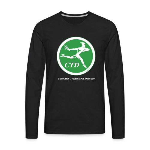 Cannabis Transworld Delivery - Green-White - Men's Premium Long Sleeve T-Shirt