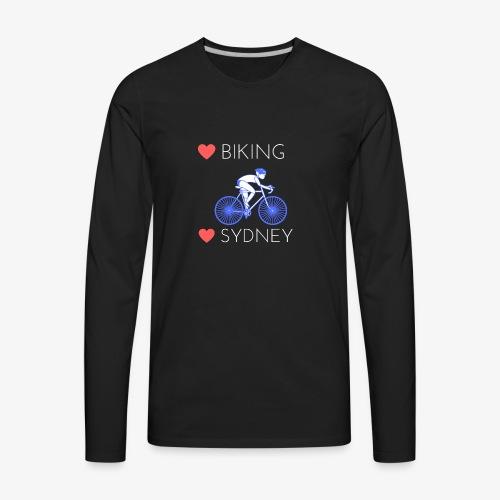 Love Biking Love Sydney tee shirts - Men's Premium Long Sleeve T-Shirt
