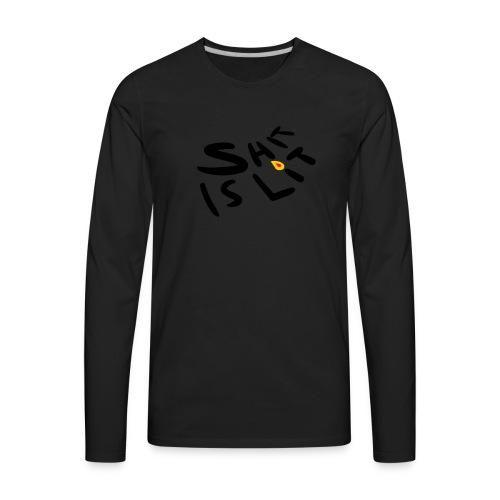 sh*t is lit - Men's Premium Long Sleeve T-Shirt