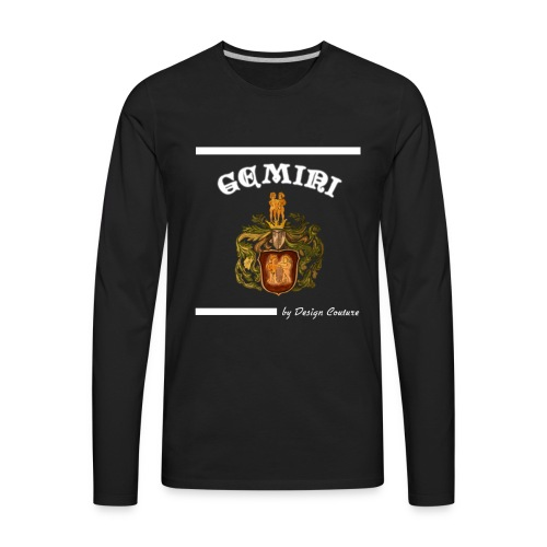 GEMINI WHITE - Men's Premium Long Sleeve T-Shirt