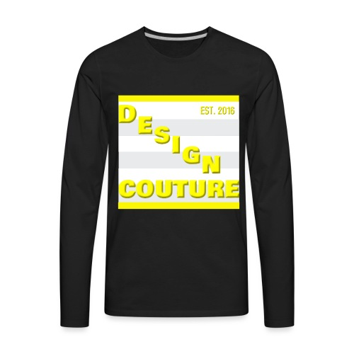 DESIGN COUTURE EST 2016 YELLOW - Men's Premium Long Sleeve T-Shirt