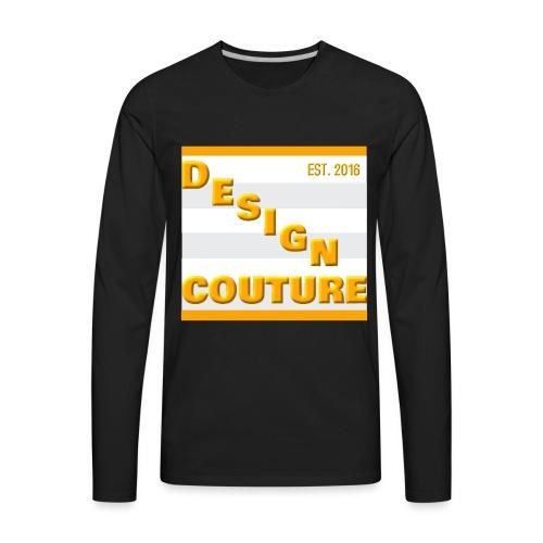 DESIGN COUTURE EST 2016 ORANGE - Men's Premium Long Sleeve T-Shirt