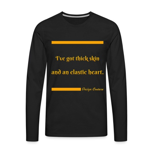 I VE GOT THICK SKIN ORANGE - Men's Premium Long Sleeve T-Shirt