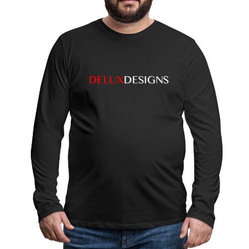 Delux Designs (white) - Men's Premium Long Sleeve T-Shirt