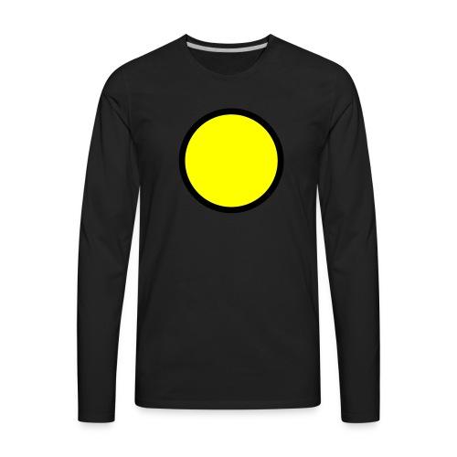 Circle yellow svg - Men's Premium Long Sleeve T-Shirt