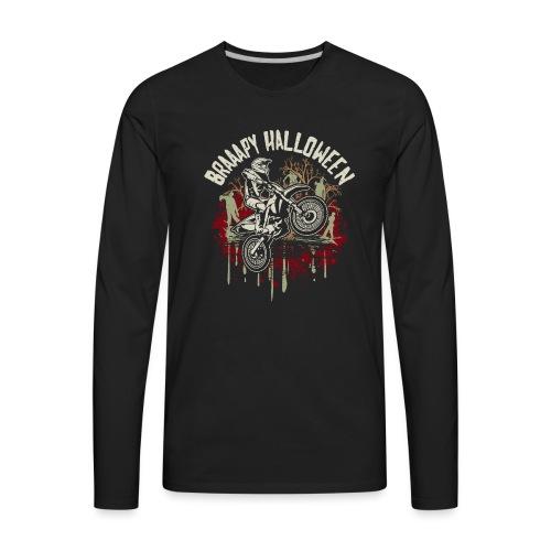 Dirt Bike Happy Halloween - Men's Premium Long Sleeve T-Shirt